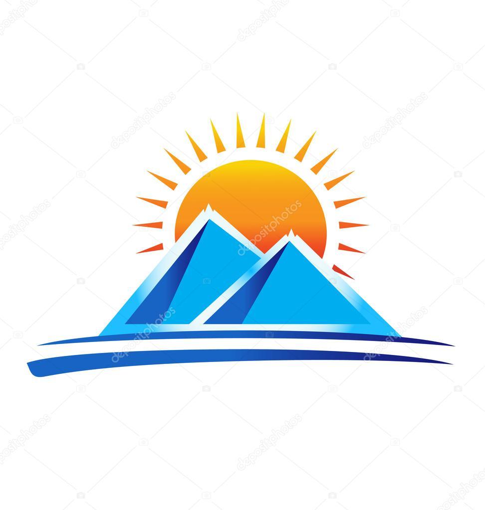 логотип горы: