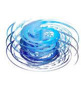 Hurricane icon logo vector eps10 — Stock Vector