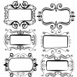 Antique vintage frames for designs vector — Stock Vector