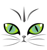Cat eyes logo vector — Stock Vector