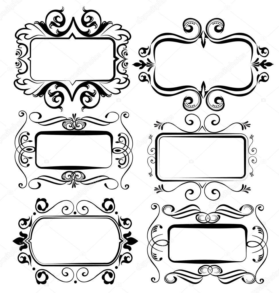marcos antiguos vintage vector dise os vector de stock On diseños vintage