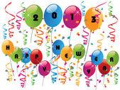 šťastný nový rok 2013 s balónky — Stock vektor