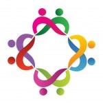 Teamwork couples logo vector — Stock Vector #17864735