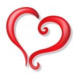 Heart of love logo vector — Stock Vector