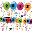 Stock Vector: 2013 congrats grad celebration
