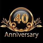 40 years anniversary birthday in gold — Stock Vector #24849909