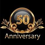 50 Jahre-Jubiläum-Geburtstag in gold — Stockvektor  #24849915