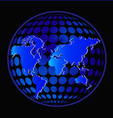 Earth in glowing blue color vector — 图库矢量图片