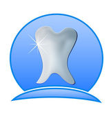 Dentist logo illustration -Tooth dental icon — Stock Vector