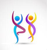 Couple dancing logo — Stock Vector