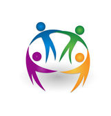 People together teamwork logo — 图库矢量图片