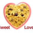 Sweet love with chocolate chip cookie background — ストック写真