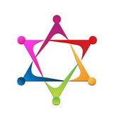 Vector of unity team logo — Stock Vector