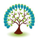 Tree business logo vector — Stock Vector