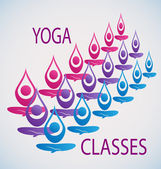 Yoga classes icon background vector — Stock Vector