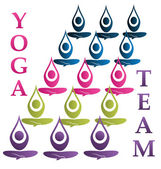 Yoga team logo vector — Stock Vector
