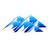 Mountains icon vector — Stock Vector