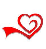 Heart symbol logo vector — Stock Vector