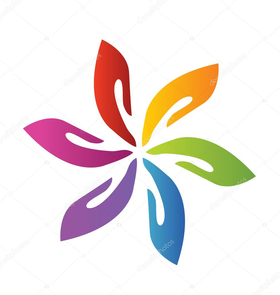 логотип цветок: