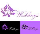 Lotus flower business card logo vector — Stock Vector