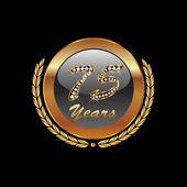 75 years diamond anniversary vector design — Stock Vector