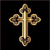 Gold Christianity Cross vector — Stock Vector