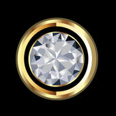 Diamond gold jewelry vector — Stock Vector