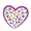 图库矢量图片: Hands of love logo vector