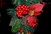 Christmas tree ornaments branch — Stock Photo
