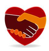 Handshake logo — Stock Vector