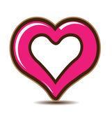 Valentines Day Heart logo vector — Stock Vector