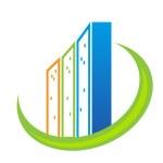 Real estate modern buildings logo — Stock Vector #49851269