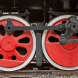 Stock Photo: The steam train wheels, China