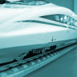Stock Photo: High-speed train model