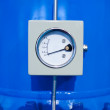 Stock Photo: Pipeline pressure gauge