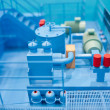 Stock Photo: Power system plant production line