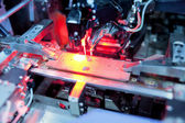 Precision laser circuit board processing — Stockfoto