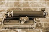 Staromodny ręczne maszyny do pisania, klawiatura — Zdjęcie stockowe