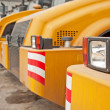 Row of Excavators - Stock Photo