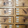 Herbal Medicine Drawers — Stock Photo