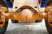 油圧ショベルの車軸、車輪 — ストック写真