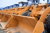 Row of Excavators — Stock Photo