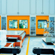 Stock Photo: The car shell production line