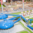 Stock Photo: Energy processing plant model