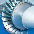 Stock Photo: Aircraft engine model