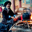 Yunnan, China minorities old lady — Stock Photo