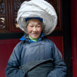 Stock Photo: China's ethnic minorities, Yi old lady