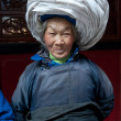 China's ethnic minorities, the Yi old lady — Stock Photo