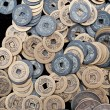 Bronze crafts, ancient Chinese coins — Stock Photo #24895543