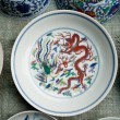 Stock Photo: Painted porcelain crafts
